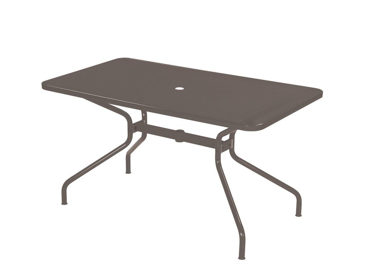 Gartentisch Holz Mit Loch FUr Sonnenschirm ~ Gartentisch aus Stahl im Design Stil mit Loch für Sonnenschirm