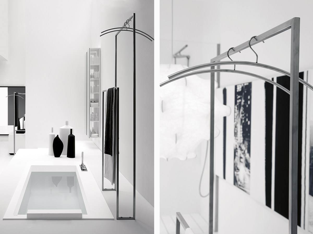 Standing stainless steel towel rack ACCESSORI VARI Antonio Lupi  #4E5257 1200x900