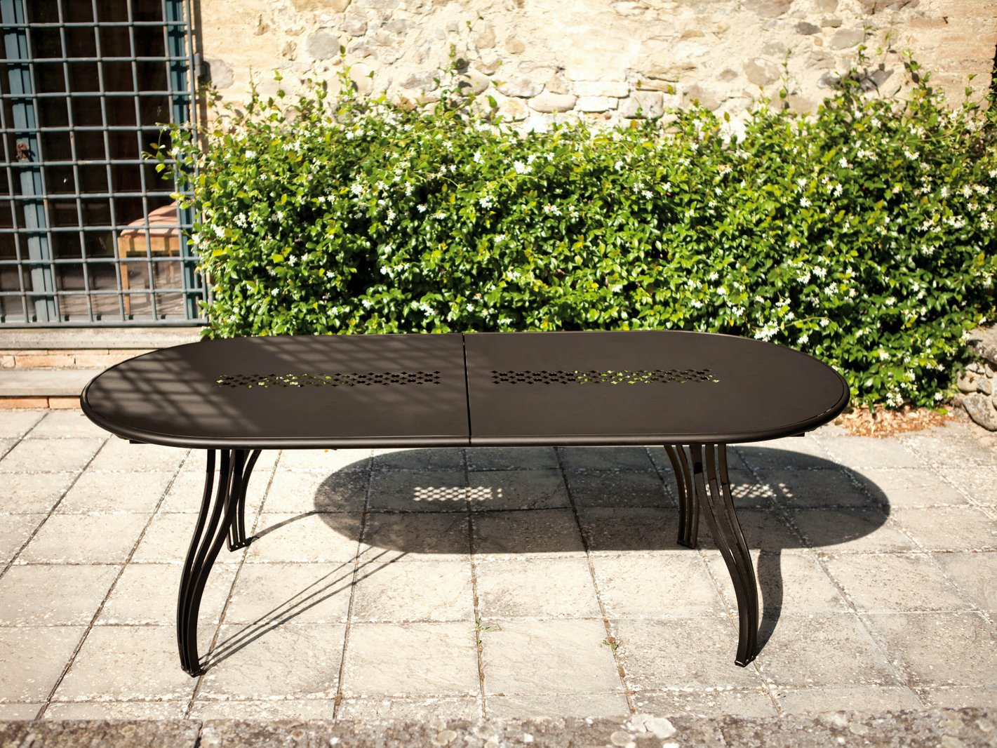 stunning table de jardin metal avec rallonge gallery. Black Bedroom Furniture Sets. Home Design Ideas