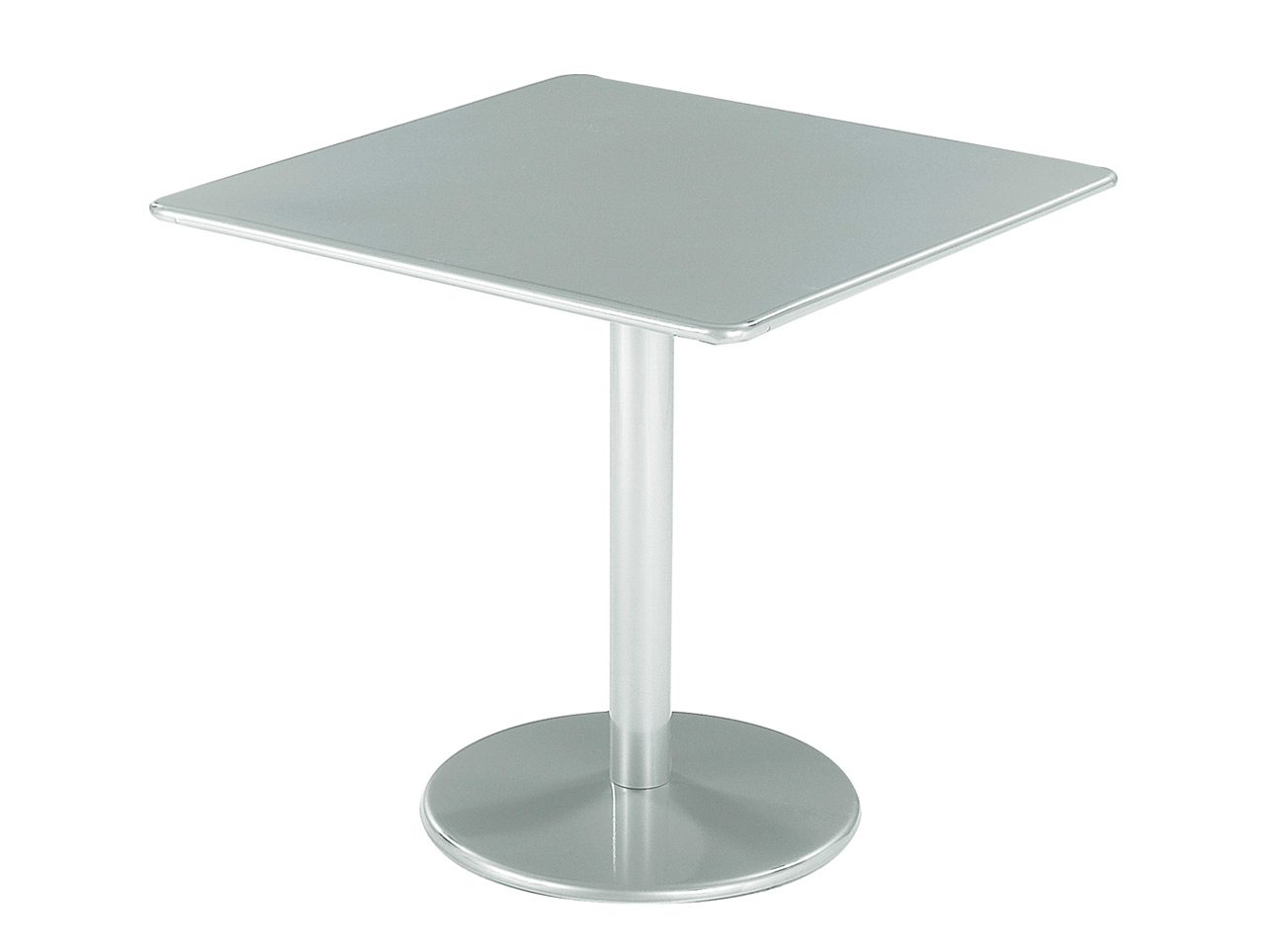 Table carr e en acier collection bistrot by emu group - Table bistrot carree ...