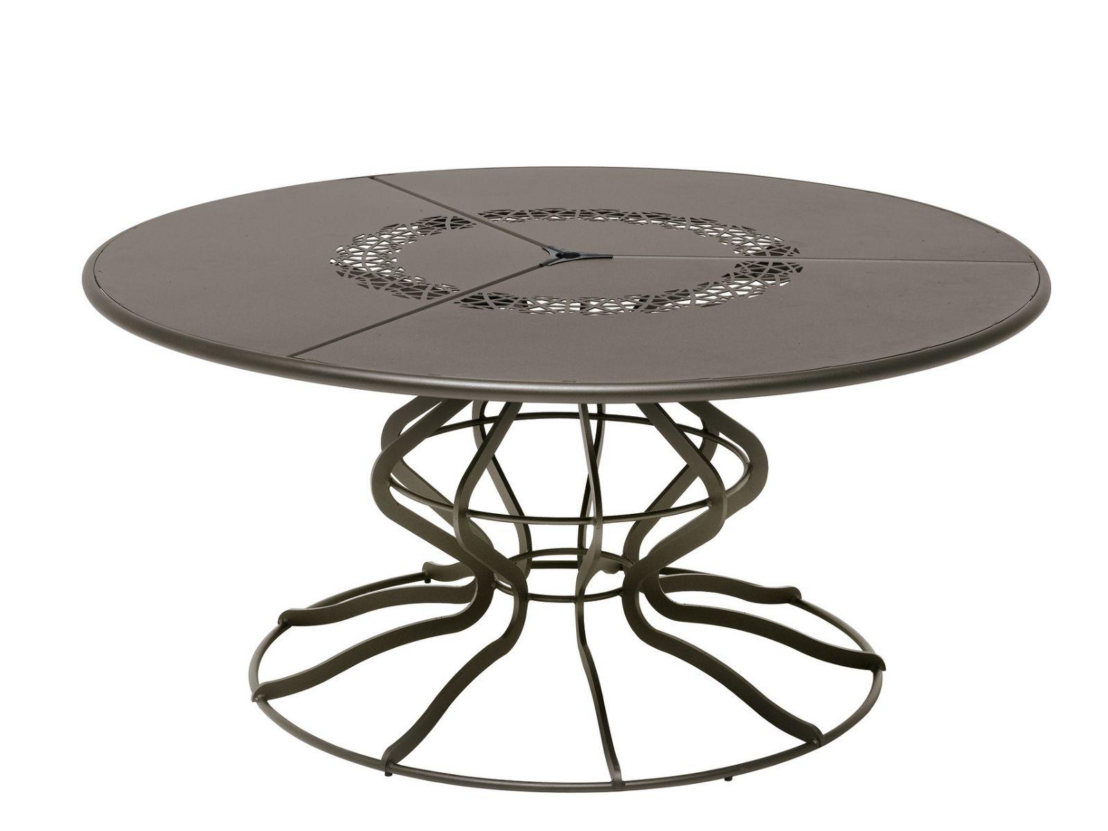 Table de jardin ronde en acier minuetto by emu group - Table jardin acier ...
