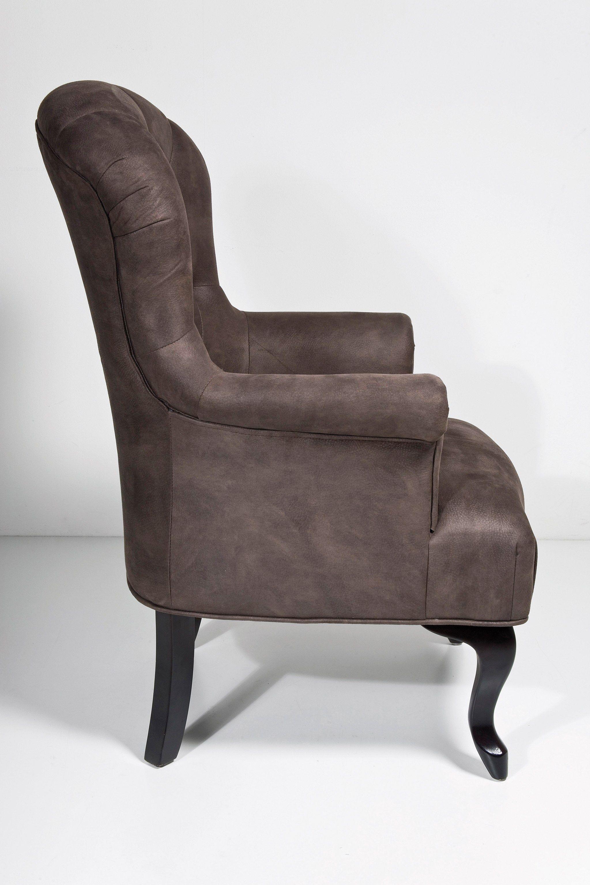 Poltrona a orecchioni relax in pelle cafehouse by kare design - Poltrona relax design ...