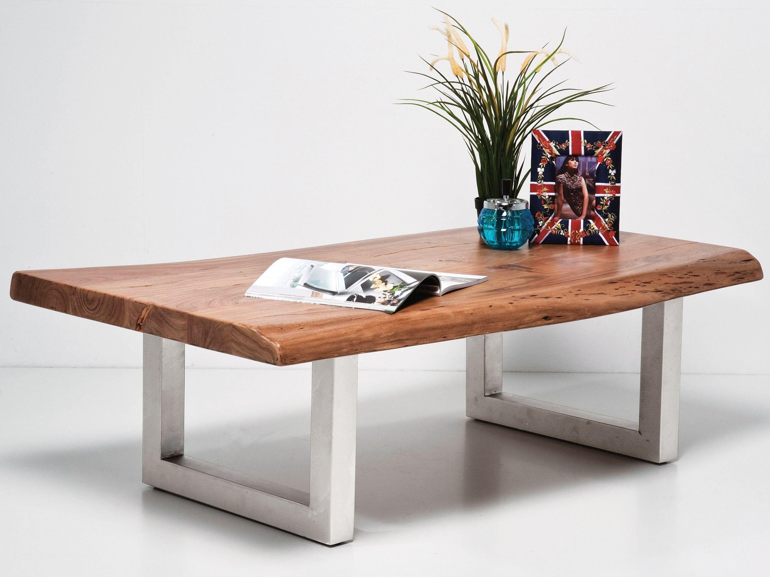Rectangular wooden coffee table nature line by kare design for Kare design tisch bijou steel