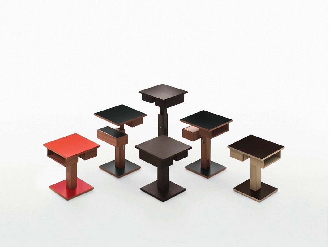 Table de nuit carr e en bois massif nuit table de nuit - Mini table de nuit ...