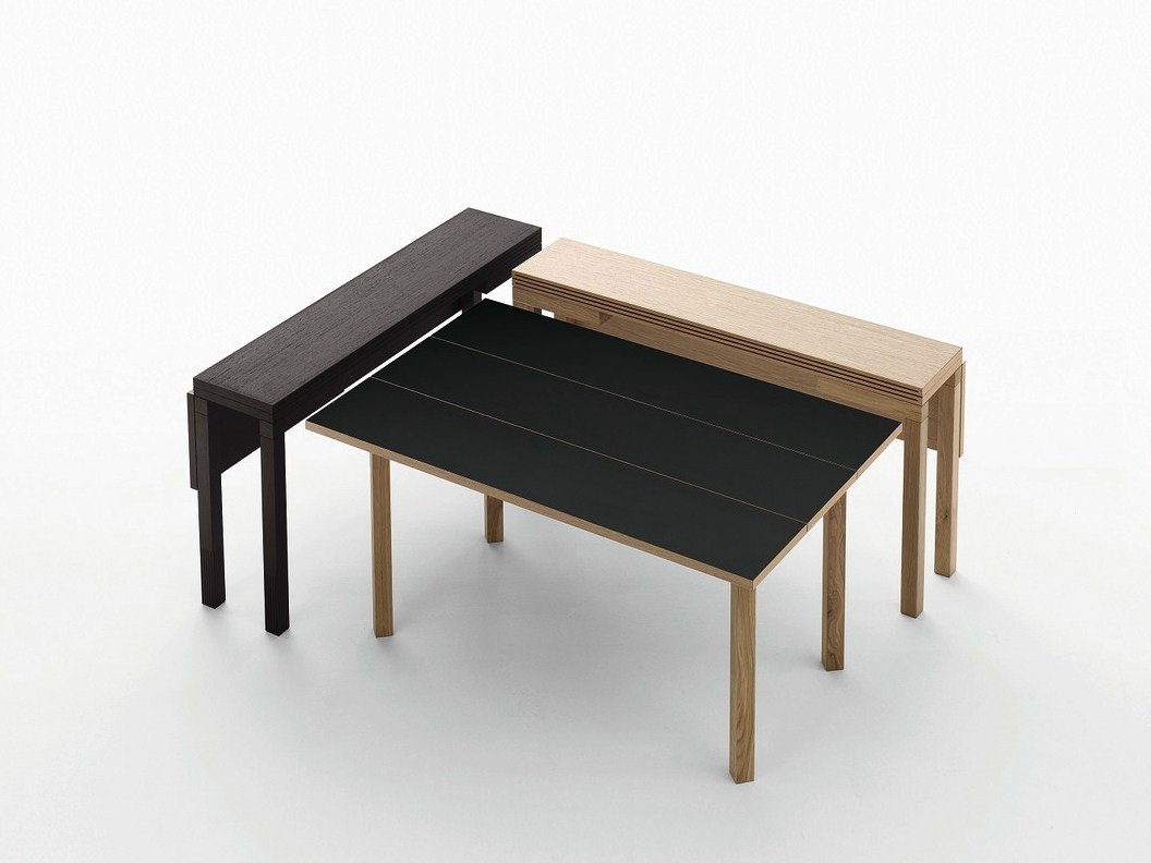 Papillon table console en weng by sculptures jeux by eppis design bernard vu - Table console extensible en bois massif ...