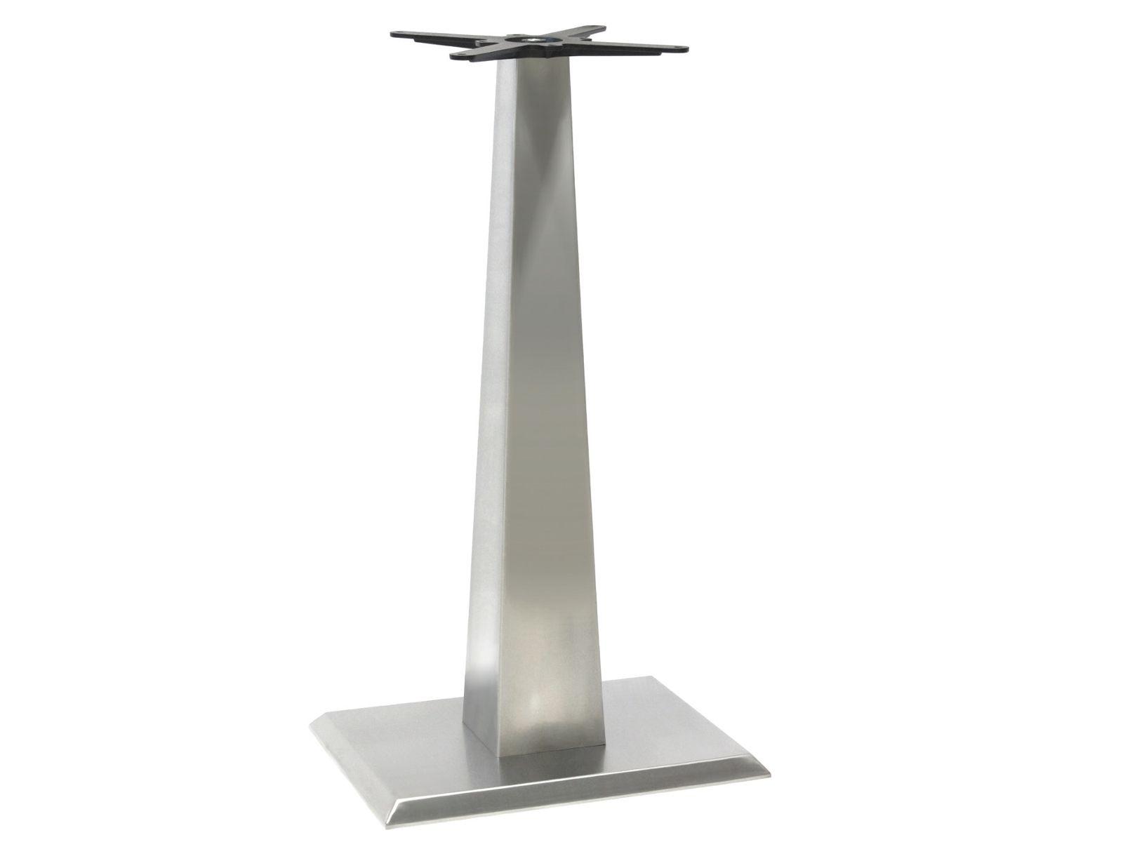 Mange debout rectangulaire en acier inoxydable isopira 64 - Table en acier inoxydable ...