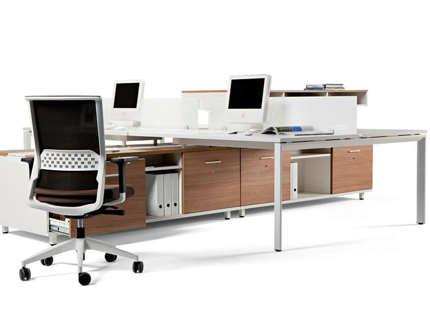 Escritorio de oficina modular operativo con cajones vital for Mobiliario modular para oficina