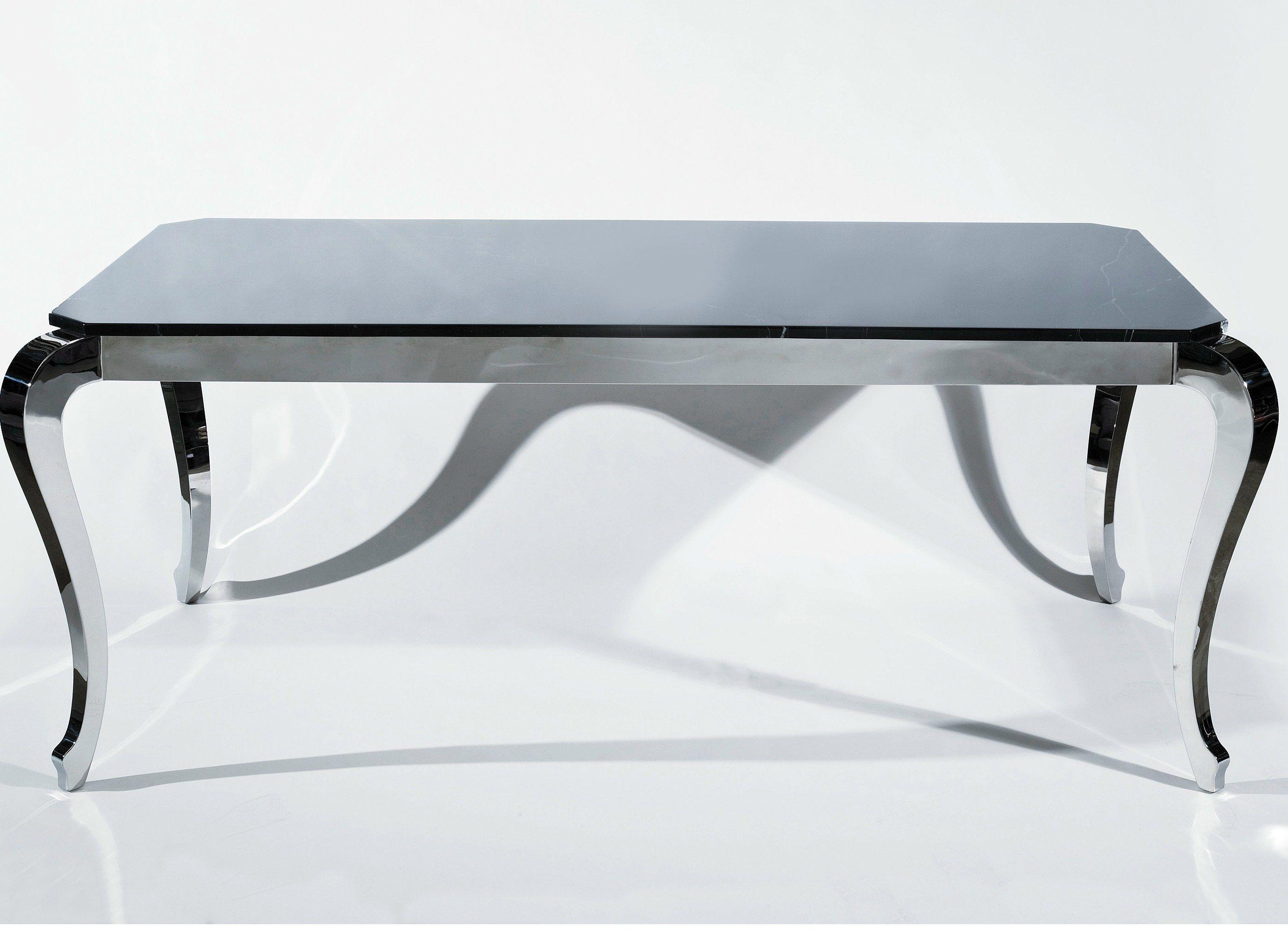 Steel kitchen table bijou steel by kare design for Kare design tisch bijou steel