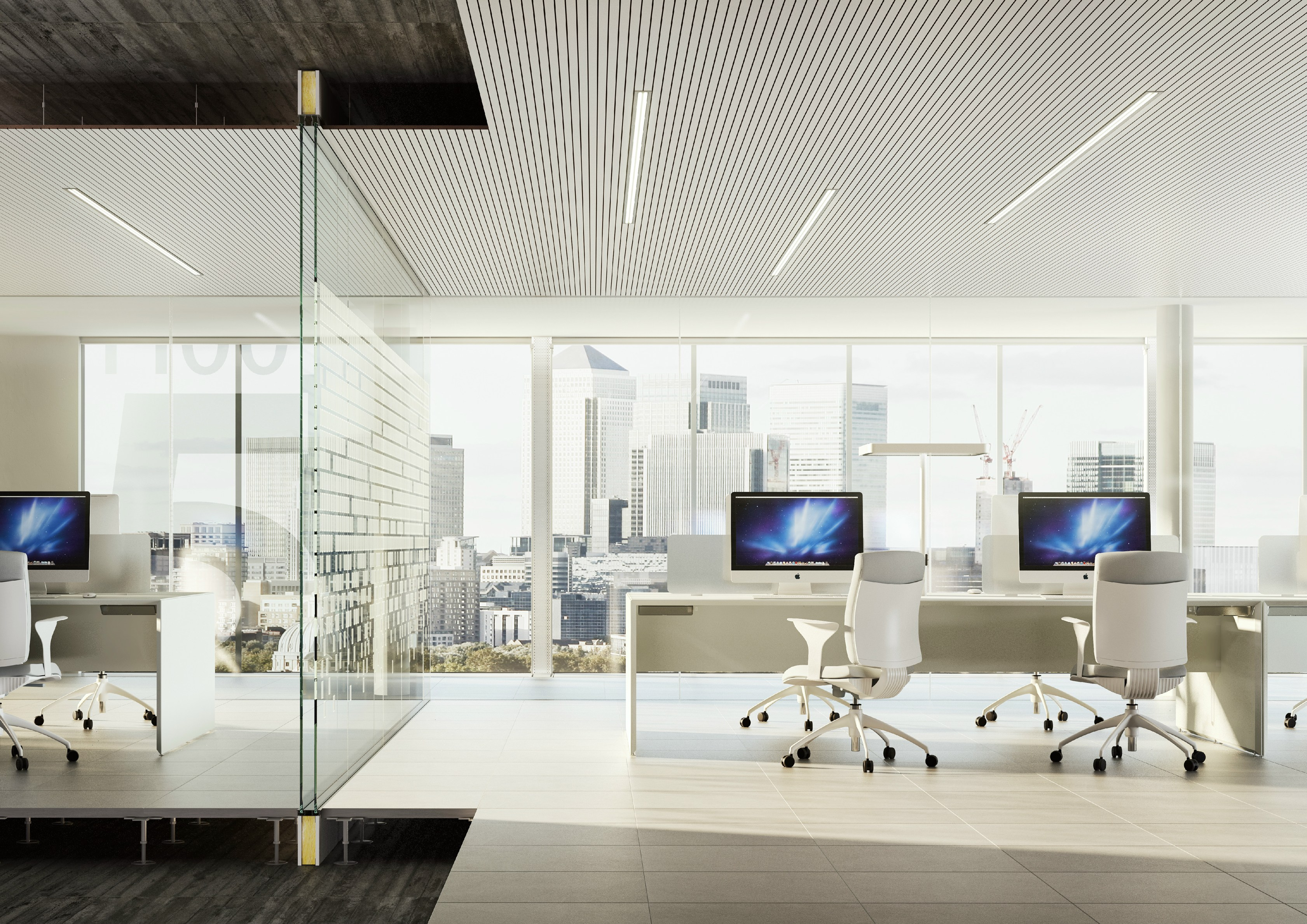 glass partition wall i wallspace by fantoni