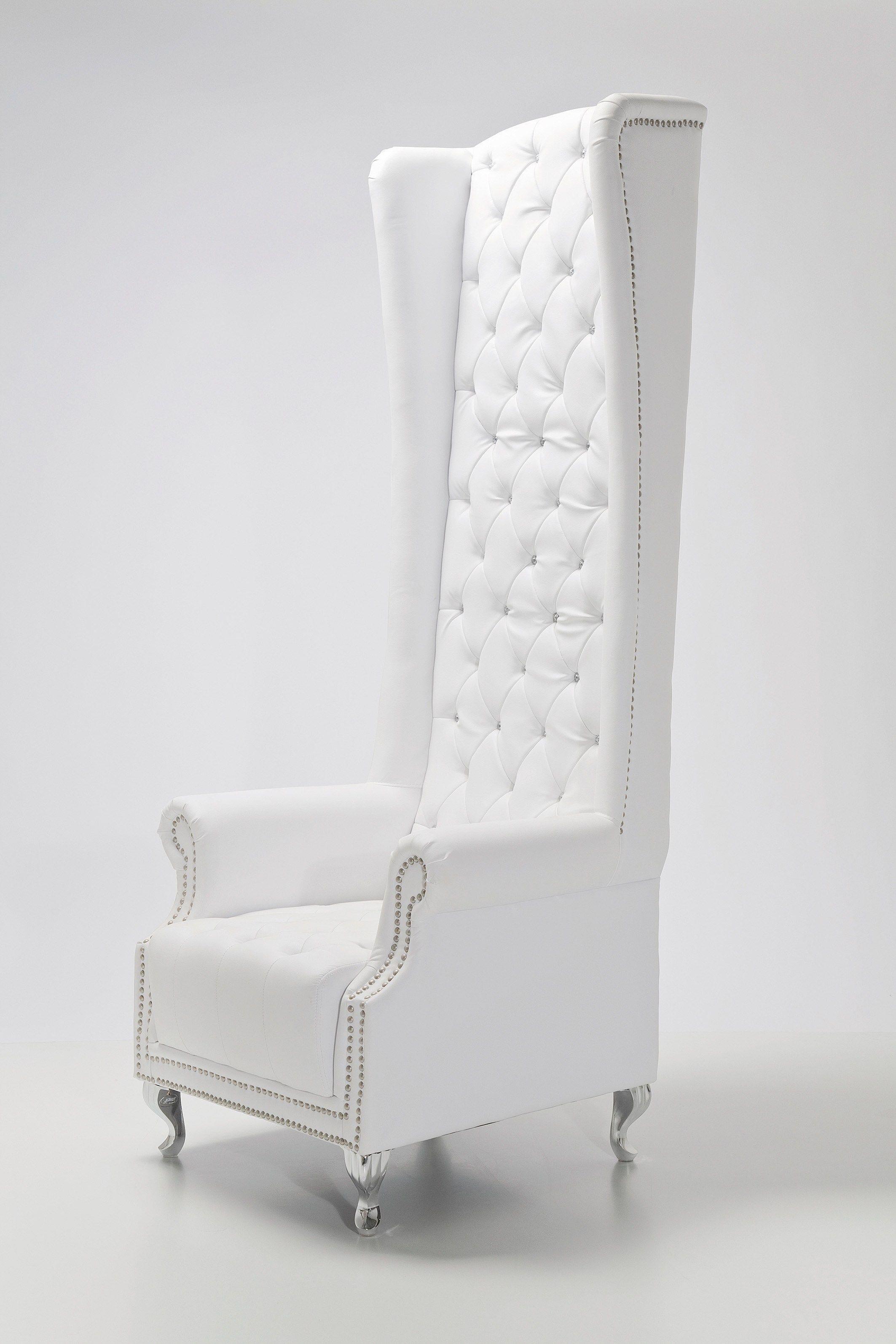 Poltrona con braccioli con poggiatesta queen white by kare for Poltrona kare design
