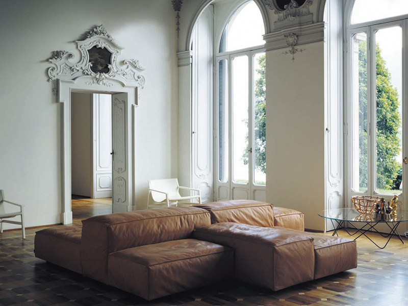 Modular sofa EXTRASOFT by Living Divani design Piero Lissoni