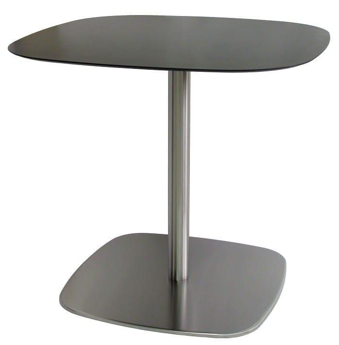 Tisch aus edelstahl rounded 43 t inox by vela arredamenti for Tisch eins design studio