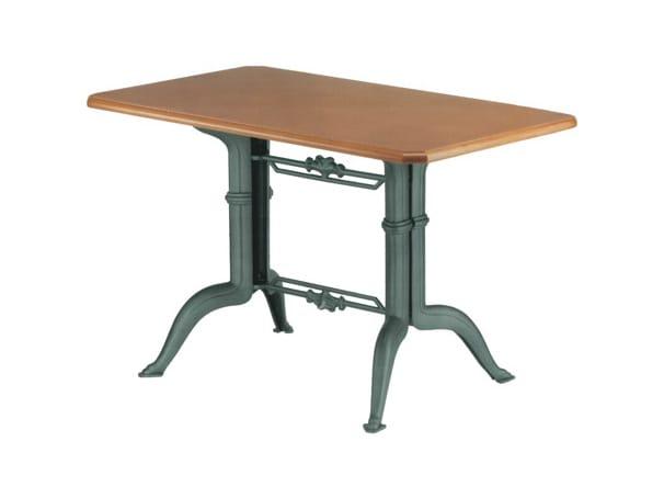 Rechteckiger tisch aus gusseisen olimpia 6 by vela for Tisch eins design studio