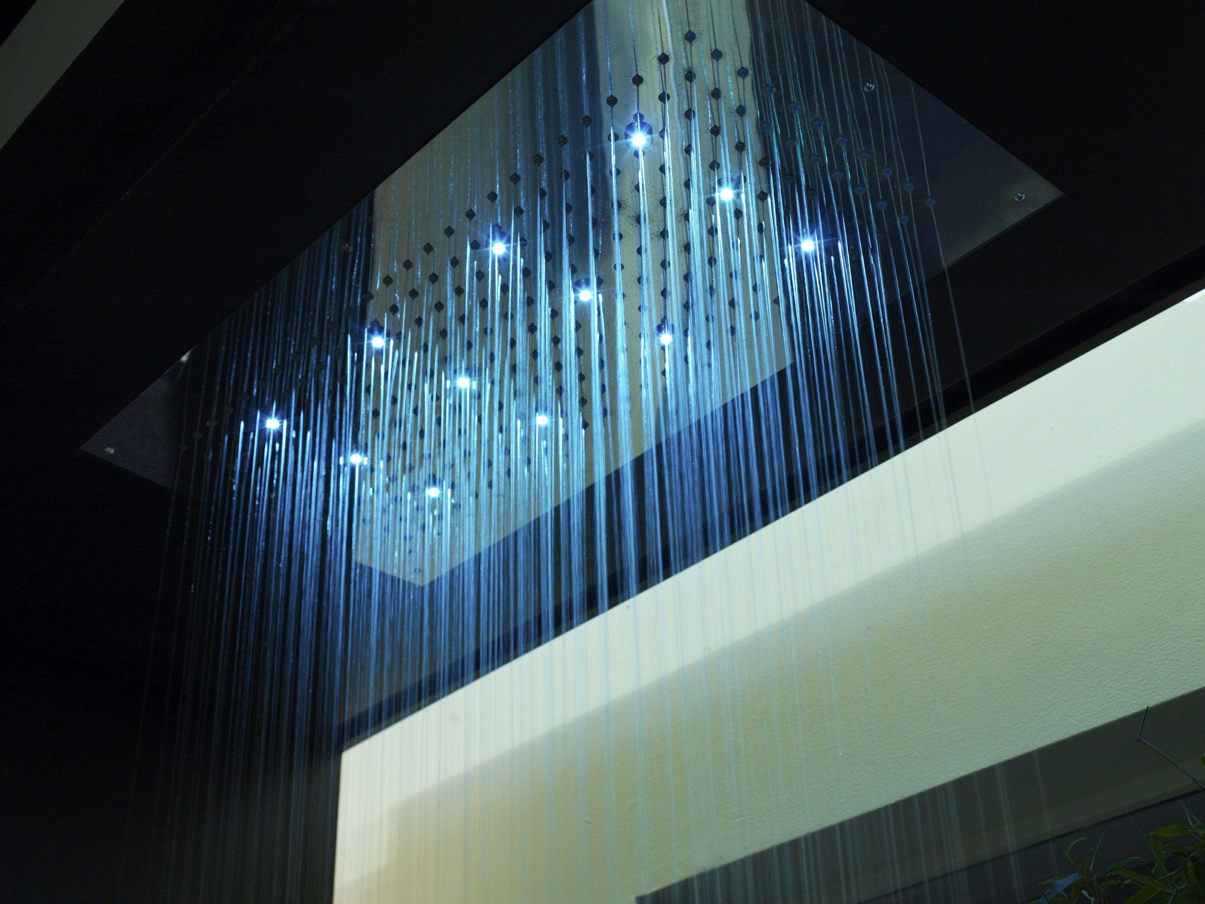 T te de douche effet pluie en laiton design pour chromoth rapie avec 1 jet - Tete de douche pluie ...