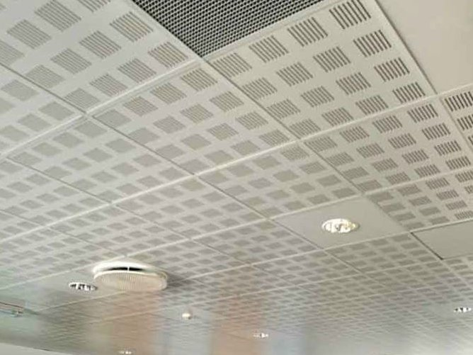 faux plafond en placo gyptone activ air line 4 by saint
