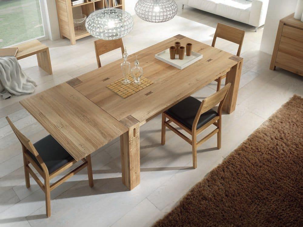 Storia tavolo rettangolare by domus arte - Tavolo in legno massello ...