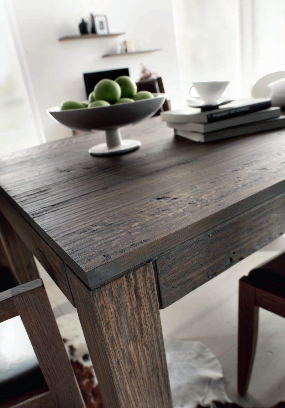 Tavolo rettangolare in legno massello natura by domus arte for Tavolo rettangolare