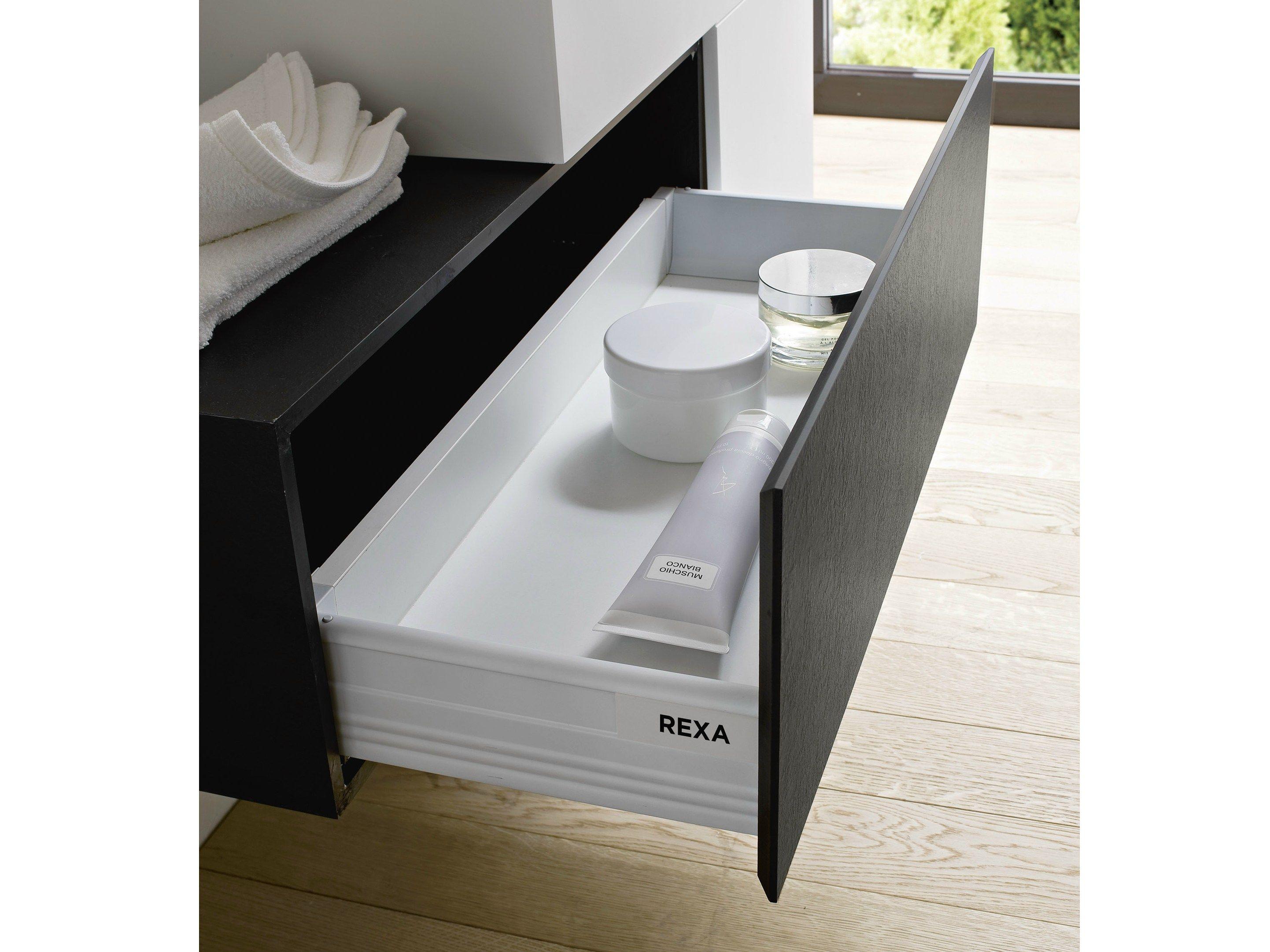 Argo meuble pour salle de bain avec tiroirs by rexa design for Tiroir meuble salle de bain