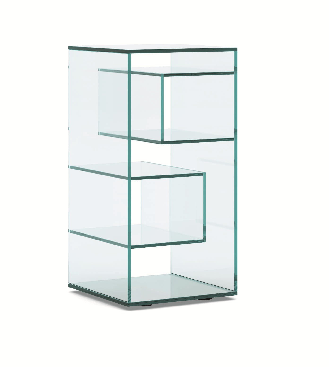 square glass bedside table liber e by tonelli design design luca  - square glass bedside table liber e by tonelli design design luca papini