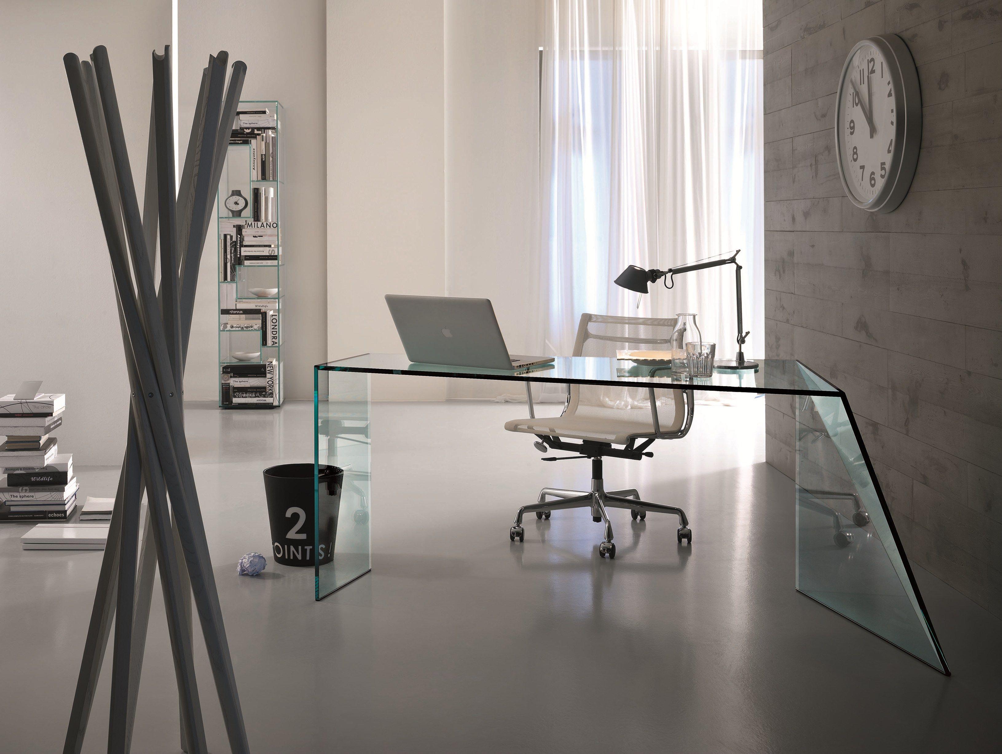 Penrose scrivania by t d tonelli design design isao hosoe - Scrivania cristallo ufficio ...