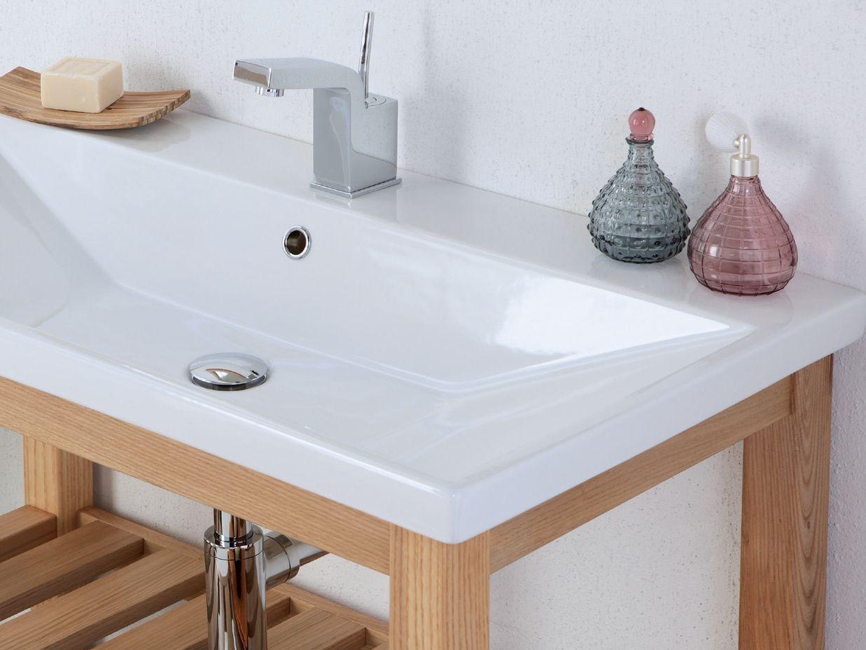 Consolle lavabo in legno massello quadro collezione start for Consolle legno