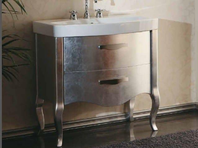 Zeus meuble sous vasque de feuille d 39 argent by la bottega for Meuble zeus