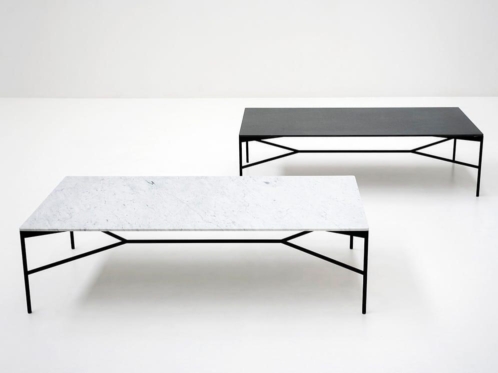 niedriger rechteckiger couchtisch aus marmor kollektion. Black Bedroom Furniture Sets. Home Design Ideas