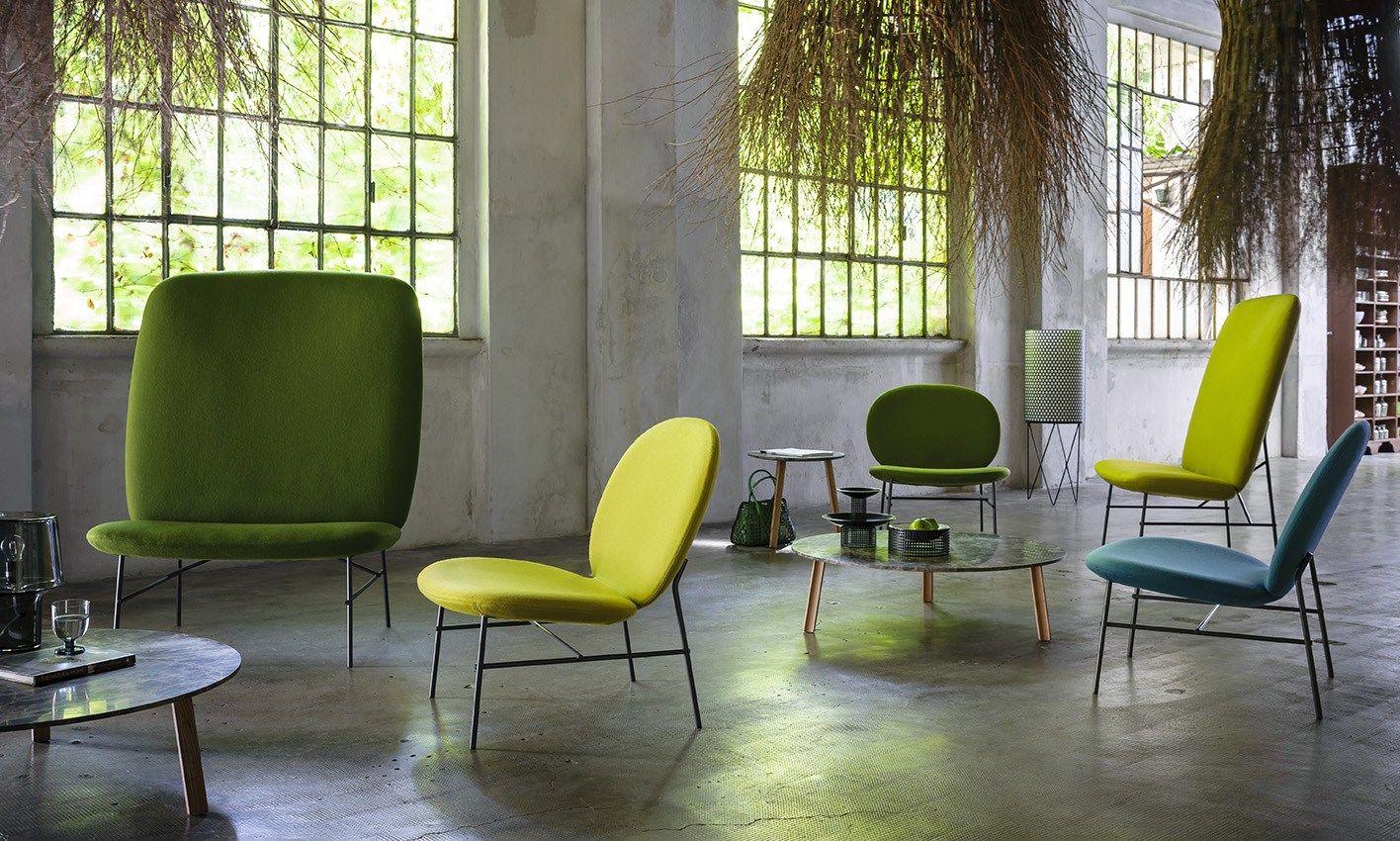 Poltrona imbottita kelly h collezione kelly by tacchini for Sedia design svedese
