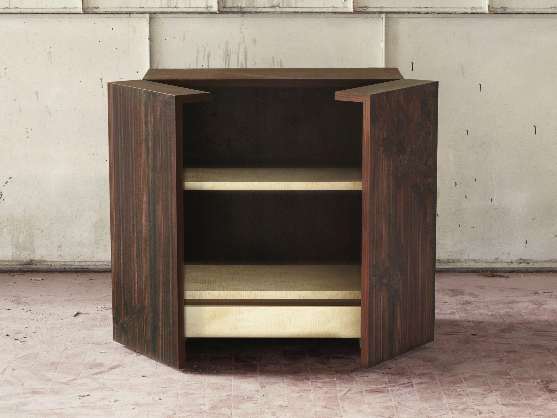 wooden storage units