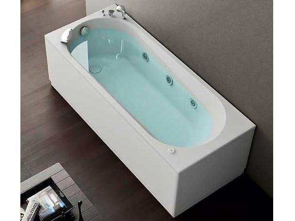 Vasca da bagno idromassaggio rettangolare collezione nova by hafro - Vasca da bagno 150x70 ...