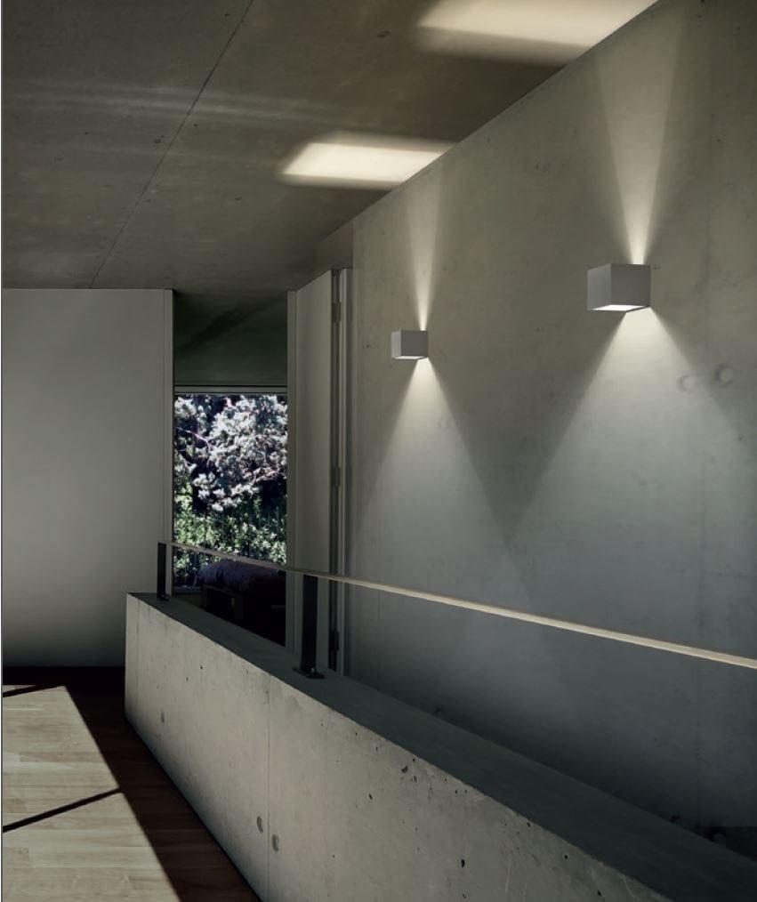 L mpara de pared led con luz directa indirecta draco by - Iluminacion de pared ...