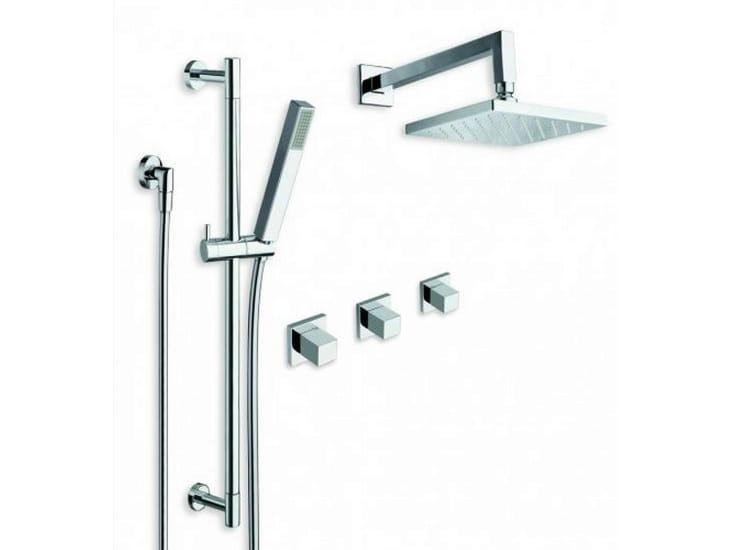 Asta saliscendi con doccetta con flessibile con soffione collezione quadri by cristina rubinetterie - Soffione della doccia ...