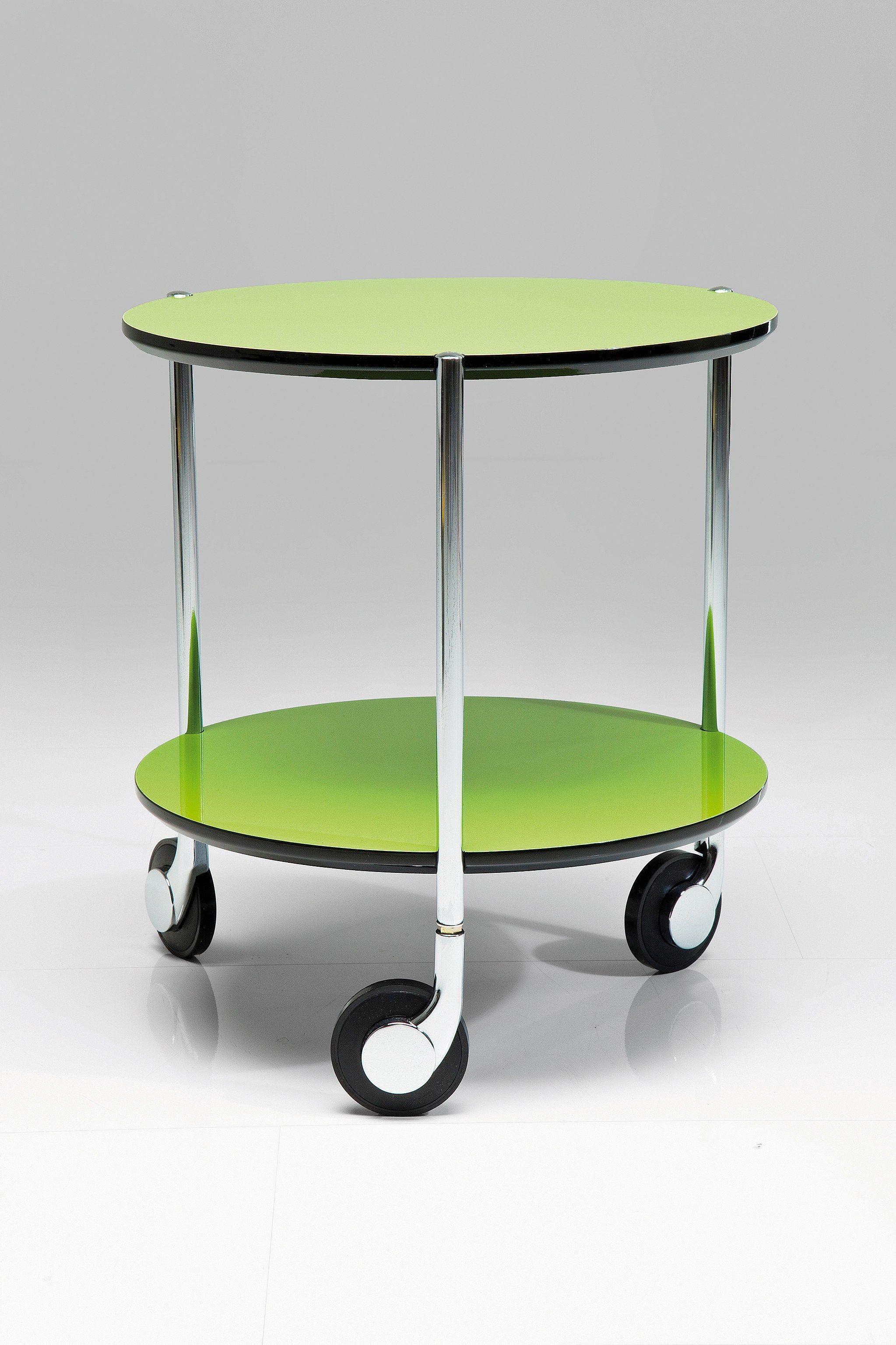 Mesa auxiliar de metal doppio green mesita con ruedas by kare design - Ruedas de mesa ...