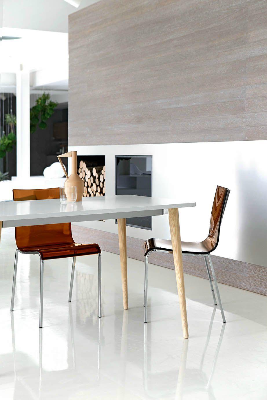 Tavolo allungabile da pranzo quadrato DEJAVÚ by Midj design R&D