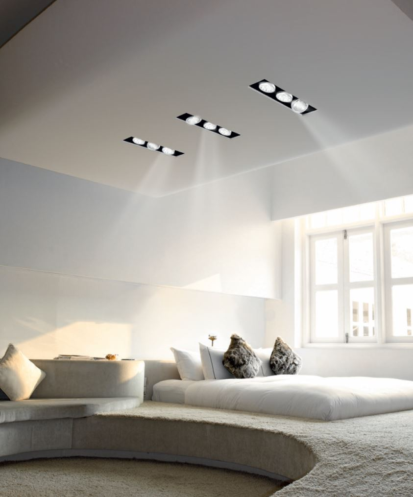 Direct Light Adjustable Built In Lamp For False Ceiling