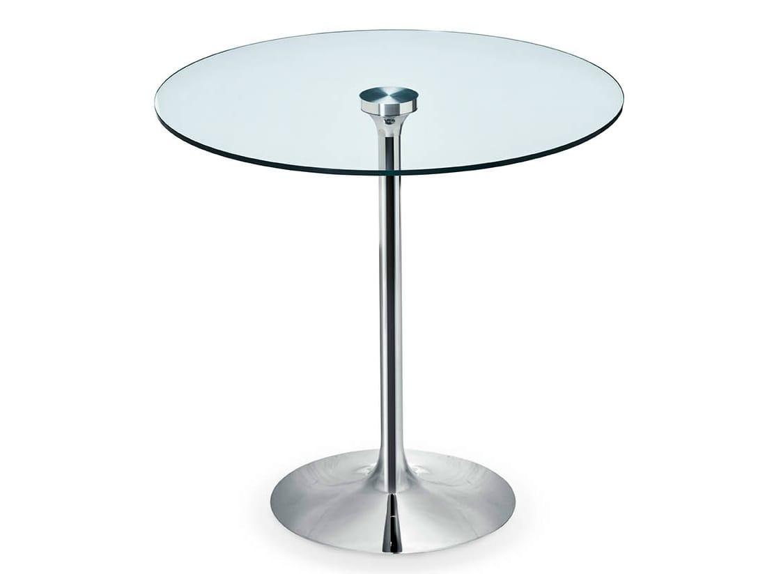 Table ronde verre - Table ronde telescopique ...
