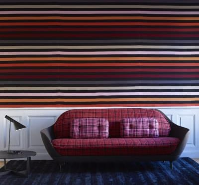 tissu multicouleur rayures rue du dragon by lelievre design sonia rykiel. Black Bedroom Furniture Sets. Home Design Ideas