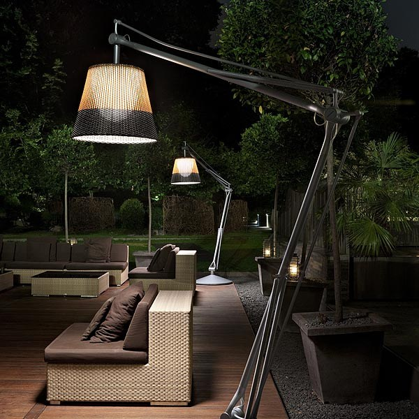 Halogen Aluminium Floor Lamp SUPERARCHIMOON OUTDOOR By FLOS Design Philippe S