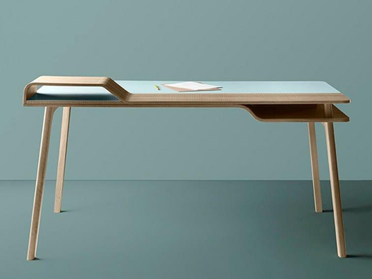 Schreibtisch design holz  Schreibtisch aus Holz BELHARRA By TREKU Design Jean Louis Iratzoki