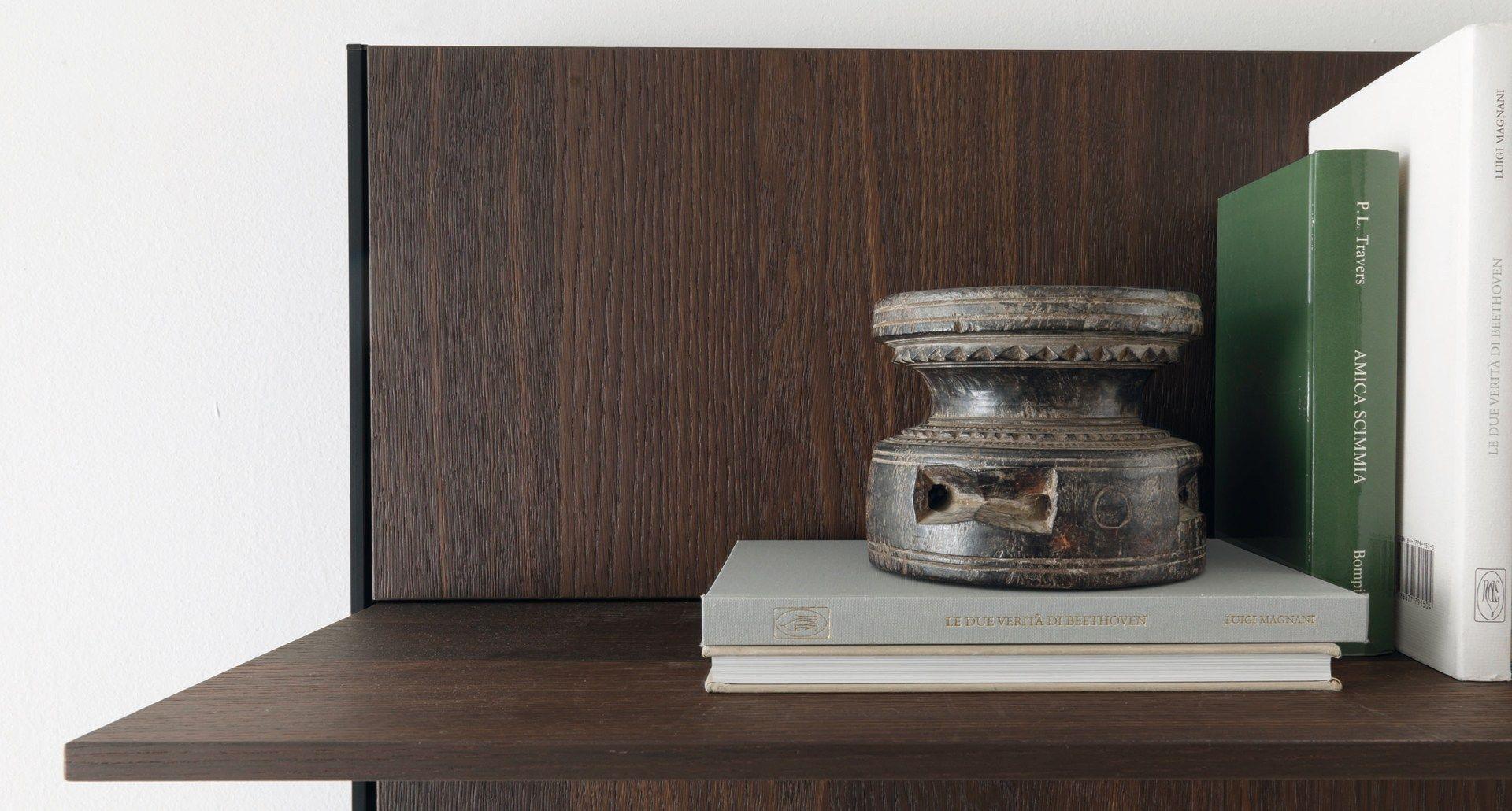 Parete attrezzata con mensole per cucine e living HORIZON by Euromobil