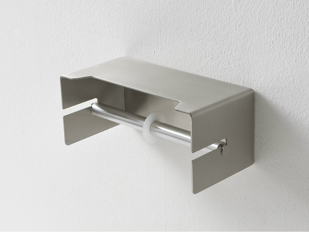 Ergo nomic aluminium toilet roll holder by rexa design - Porte essuie tout mural ikea ...