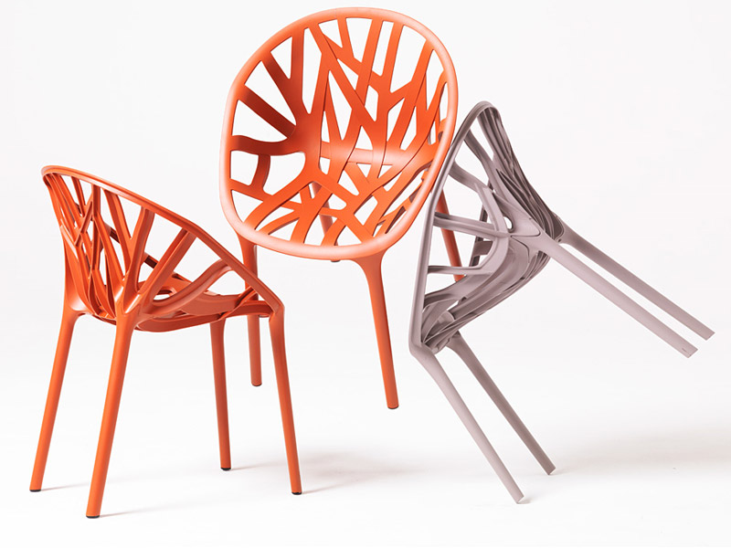 Stackable plastic chair vegetal by vitra design ronan erwan bouroullec - Chaise plexiglass design ...