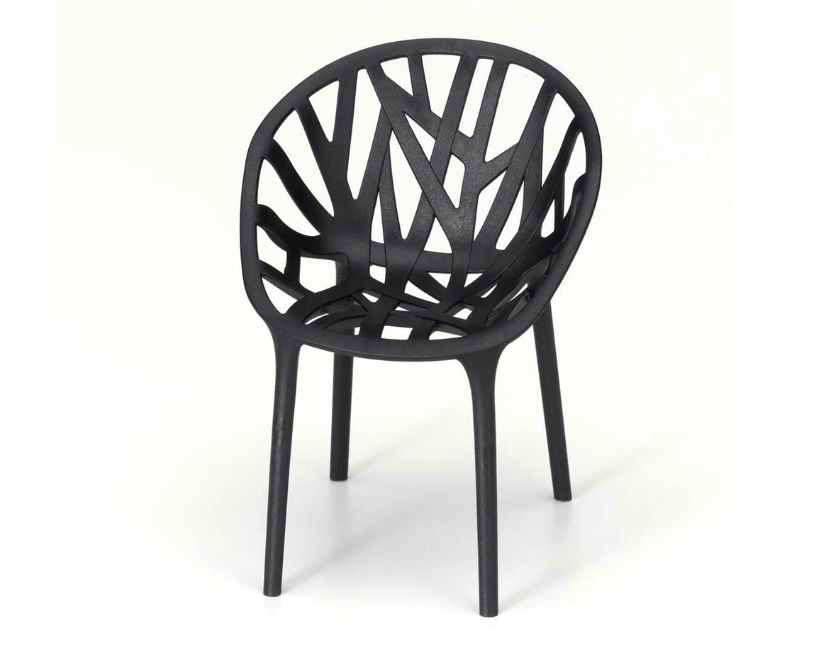 stackable plastic chair vegetal by vitra design ronan. Black Bedroom Furniture Sets. Home Design Ideas
