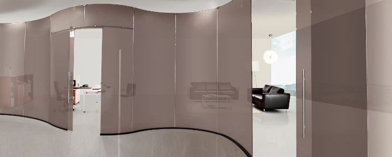 Pareti Divisorie Curve In Vetro : Parete mobile in vetro cocoon by ...