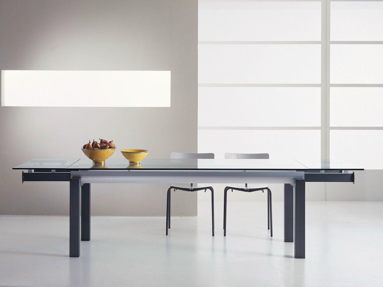 Tavolo allungabile da pranzo extenso by f lli orsenigo design gianpietro tonetti - Tavolo pranzo cristallo ...