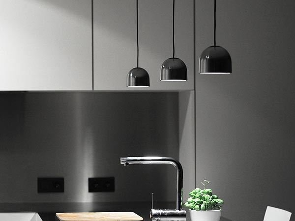 aluminium pendant lamp wan s by flos design johanna grawunder. Black Bedroom Furniture Sets. Home Design Ideas