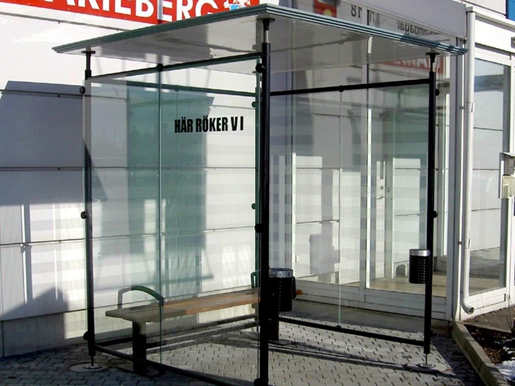 Glass Smoking Shelter : Glass fibre porch for smokers smoker s shelter by nola