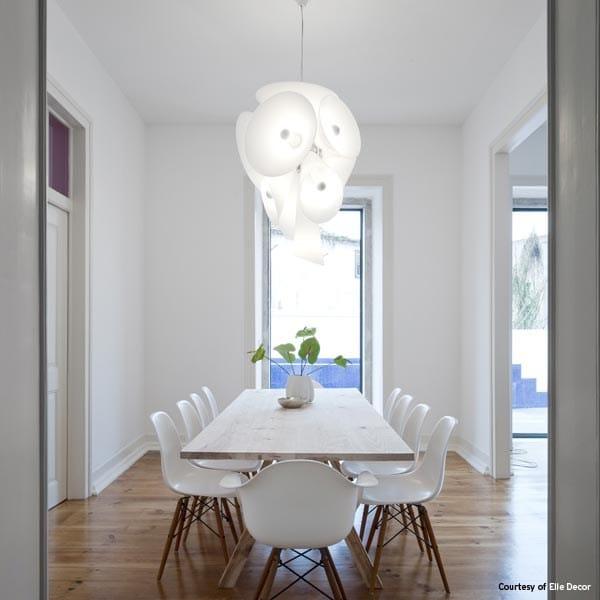 Lampada a sospensione in alluminio pressofuso nebula by for Lampade design outlet
