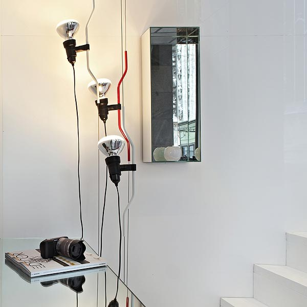 Powder coated steel pendant lamp PARENTESI By FLOS design Achille Castiglioni...