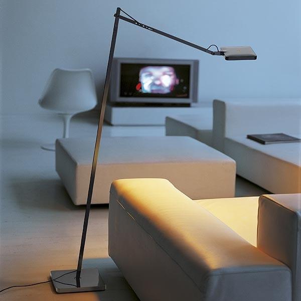 adjustable floor lamp kelvin led f by flos design antonio. Black Bedroom Furniture Sets. Home Design Ideas